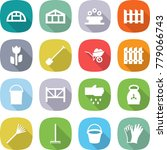 flat vector icon set  ... | Shutterstock .eps vector #779066743