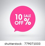 10  offer label sticker  sale... | Shutterstock .eps vector #779071033