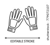 sport gloves linear icon. thin... | Shutterstock .eps vector #779072107