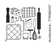hand drawn illustration cooking ... | Shutterstock .eps vector #779086447