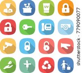 flat vector icon set   security ... | Shutterstock .eps vector #779090077
