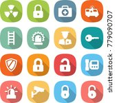 flat vector icon set   nuclear... | Shutterstock .eps vector #779090707