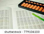 mental arithmetic background | Shutterstock . vector #779106103