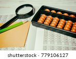 mental arithmetic background | Shutterstock . vector #779106127