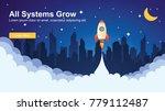 simple rocket icon  responsive... | Shutterstock .eps vector #779112487