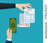 receipt icon  flat style... | Shutterstock .eps vector #779115157