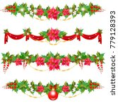 christmas garland with... | Shutterstock . vector #779128393