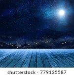 scenery in winter tonight | Shutterstock . vector #779135587