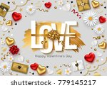 valentines day greeting card... | Shutterstock .eps vector #779145217