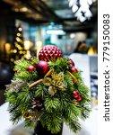 decorated christmas small fir... | Shutterstock . vector #779150083