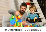 dad and kid build of plastic... | Shutterstock . vector #779150833