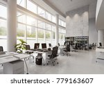 modern office building interior.... | Shutterstock . vector #779163607