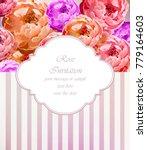 vintage roses card vector.... | Shutterstock .eps vector #779164603