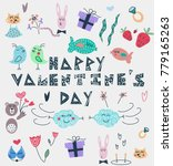 """hand drawn lettering """"happy... 