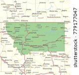 montana map. shows state... | Shutterstock .eps vector #779177047