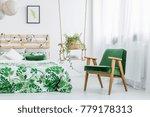 fresh plant in wicker basket... | Shutterstock . vector #779178313