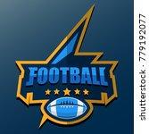 american football logo template.... | Shutterstock .eps vector #779192077