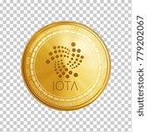 golden iota coin. crypto... | Shutterstock .eps vector #779202067
