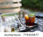 coffee cold brew on the glass... | Shutterstock . vector #779205877