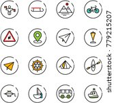 line vector icon set   traffic... | Shutterstock .eps vector #779215207