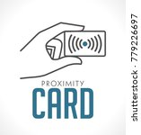 proximity card logo   hand with ... | Shutterstock .eps vector #779226697