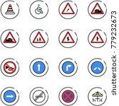 line vector icon set   road... | Shutterstock .eps vector #779232673