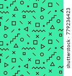 memphis poster 80's 90's styles....   Shutterstock .eps vector #779236423