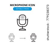 microphone line icon with... | Shutterstock .eps vector #779238373