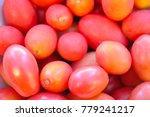 close up of fresh tomatoes  for ... | Shutterstock . vector #779241217