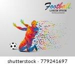 visual drawing win football... | Shutterstock .eps vector #779241697