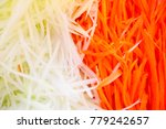 close up of papaya and carrot... | Shutterstock . vector #779242657