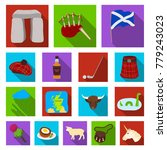 country scotland flat icons in... | Shutterstock .eps vector #779243023