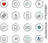 line vector icon set   heart... | Shutterstock .eps vector #779255887