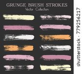 watercolor  ink or paint brush... | Shutterstock .eps vector #779256217