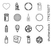 club icons. set of 16 editable... | Shutterstock .eps vector #779270377