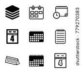 organizer icons. set of 9... | Shutterstock .eps vector #779270383
