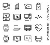 monitor icons. set of 16... | Shutterstock .eps vector #779270977
