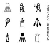 tournament icons. set of 9... | Shutterstock .eps vector #779271037