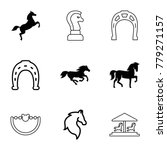 horse icons. set of 9 editable... | Shutterstock .eps vector #779271157