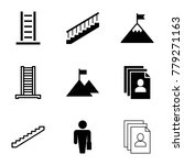career icons. set of 9 editable ... | Shutterstock .eps vector #779271163