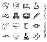 medicine icons. set of 16... | Shutterstock .eps vector #779271757