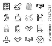 agreement icons. set of 16... | Shutterstock .eps vector #779271787