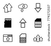 upload icons. set of 9 editable ... | Shutterstock .eps vector #779272537