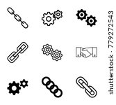 cooperation icons. set of 9... | Shutterstock .eps vector #779272543