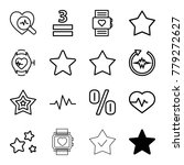 rate icons. set of 16 editable... | Shutterstock .eps vector #779272627