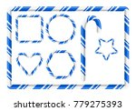 candy cane frame and more for... | Shutterstock .eps vector #779275393