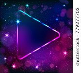 colorful neon arrow  triangle... | Shutterstock . vector #779277703