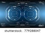 futuristic hud dashboard... | Shutterstock .eps vector #779288047