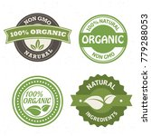 set of non gmo  fresh  natural  ... | Shutterstock .eps vector #779288053