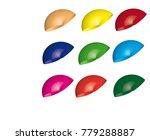 3d plastic pipe design element... | Shutterstock .eps vector #779288887